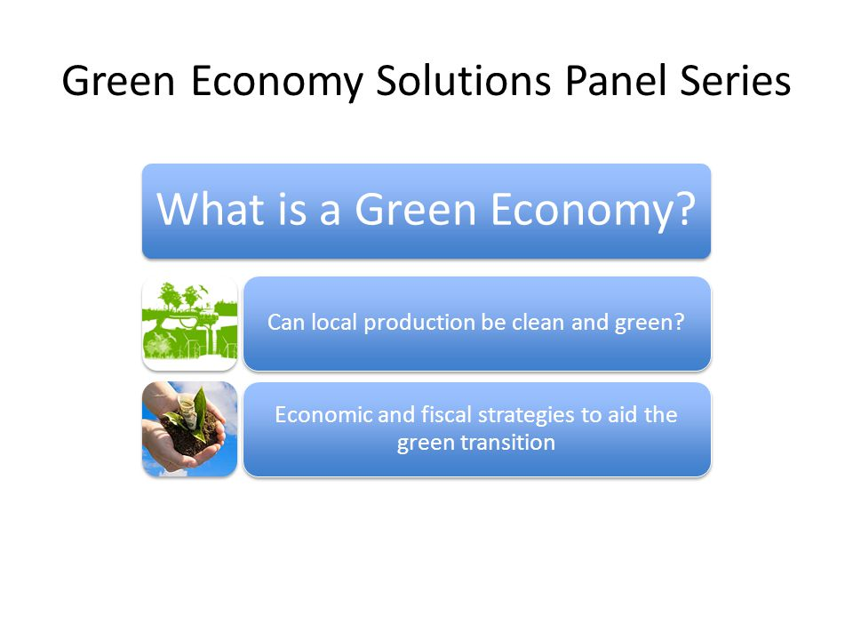 Green Economy Solutions Panel Series What is a Green Economy.