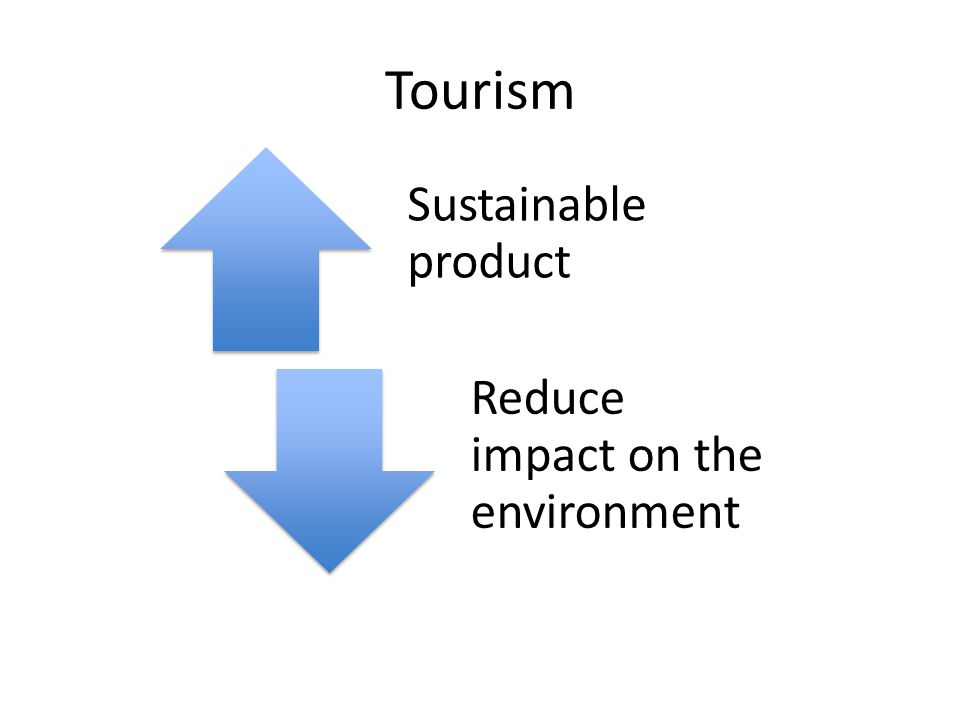 Tourism Sustainable product Reduce impact on the environment