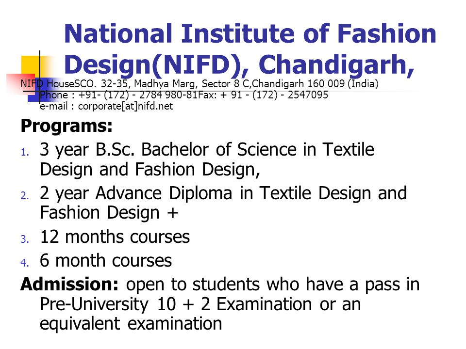 National Institute of Fashion Design(NIFD), Chandigarh, NIFD HouseSCO.