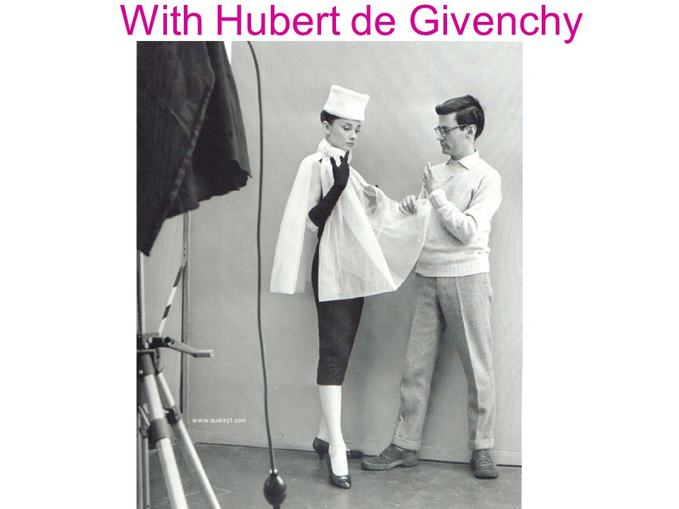 With Hubert de Givenchy