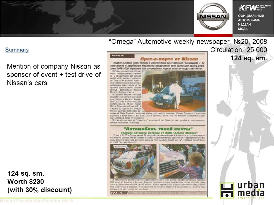 Omega Automotive weekly newspaper, 20, 2008 Circulation: 25 000 124 sq.