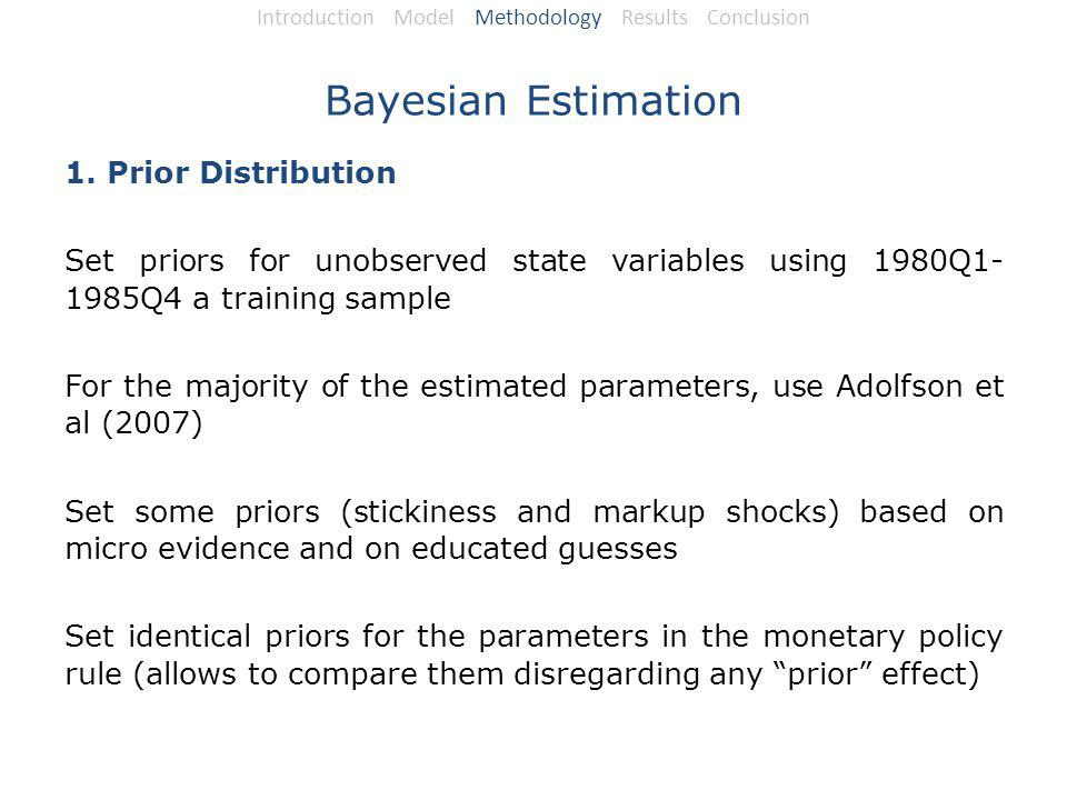 Bayesian Estimation 1.