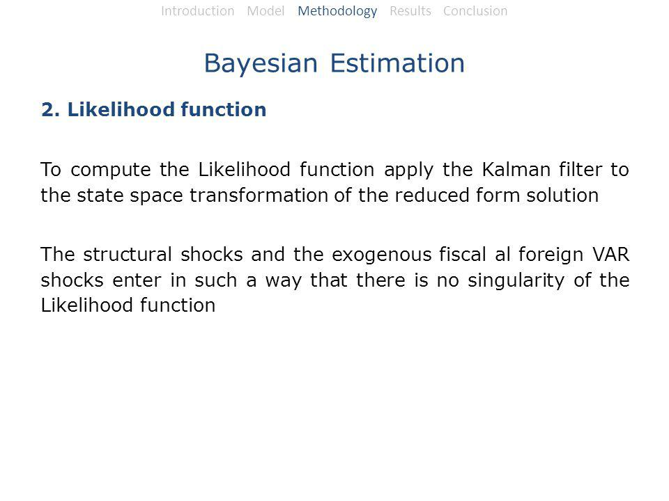Bayesian Estimation 2.