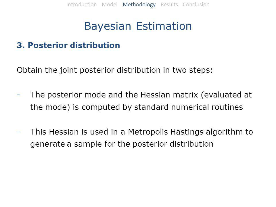 Bayesian Estimation 3.