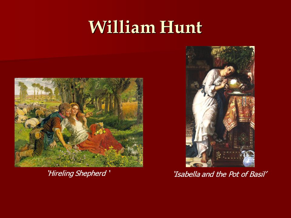 William Hunt Hireling Shepherd Isabella and the Pot of Basil