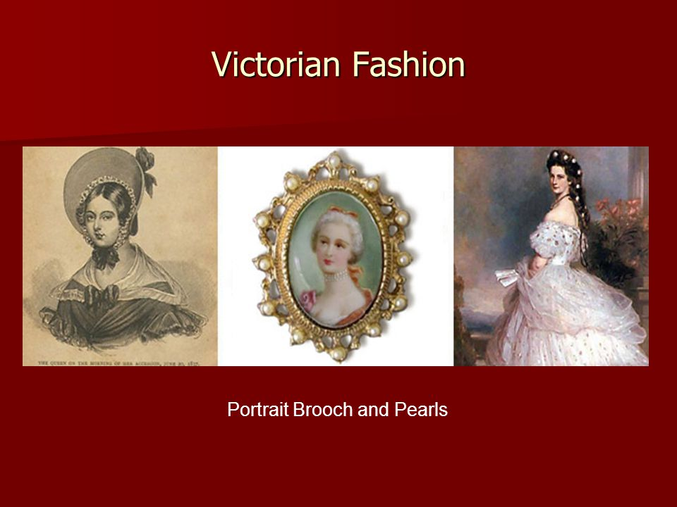 Victorian Fashion Portrait Brooch and Pearls