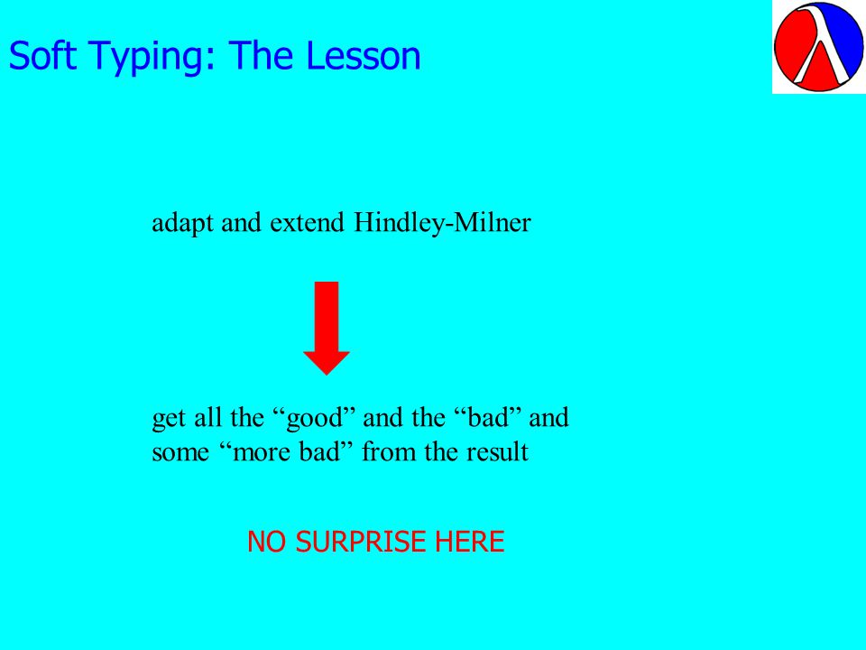 Soft Typing: The Lesson adapt and extend Hindley-Milner get all the good and the bad and some more bad from the result NO SURPRISE HERE