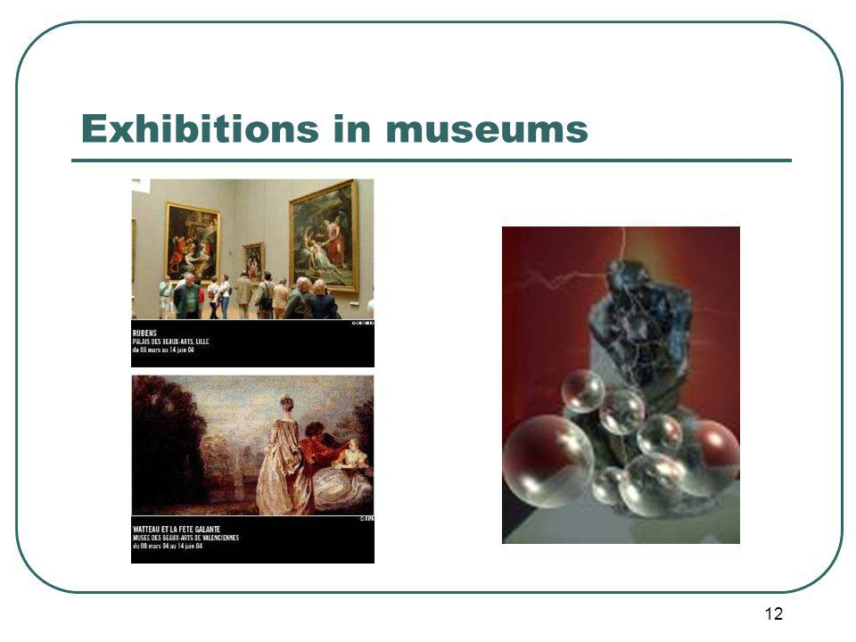 12 Exhibitions in museums