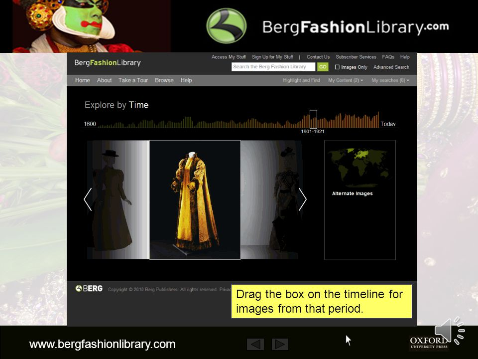 www.bergfashionlibrary.com You can also explore the site by time or place.