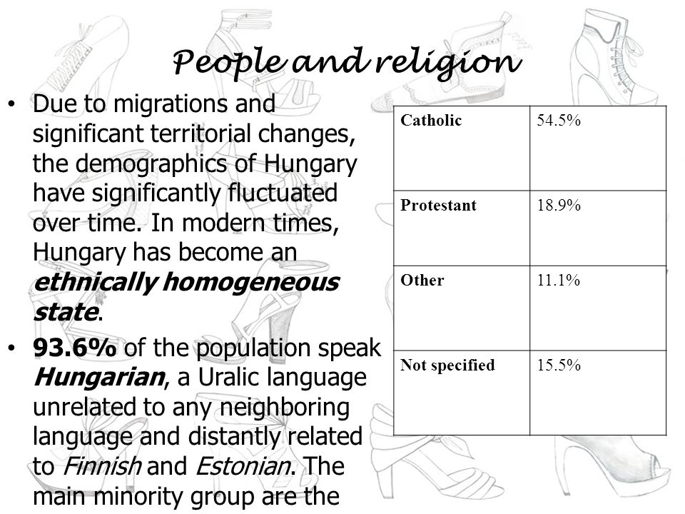 People and religion Due to migrations and significant territorial changes, the demographics of Hungary have significantly fluctuated over time.