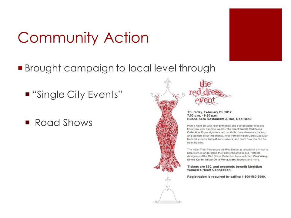 Community Action Brought campaign to local level through Single City Events Road Shows