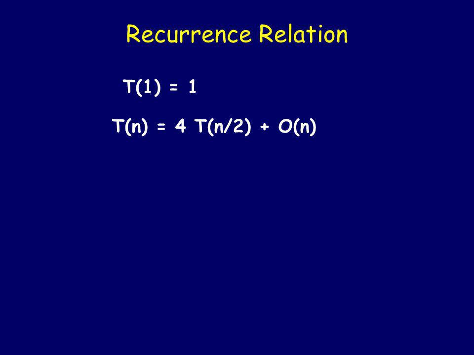 Time required by MULT T(n) = time taken by MULT on two n- bit numbers What is T(n).