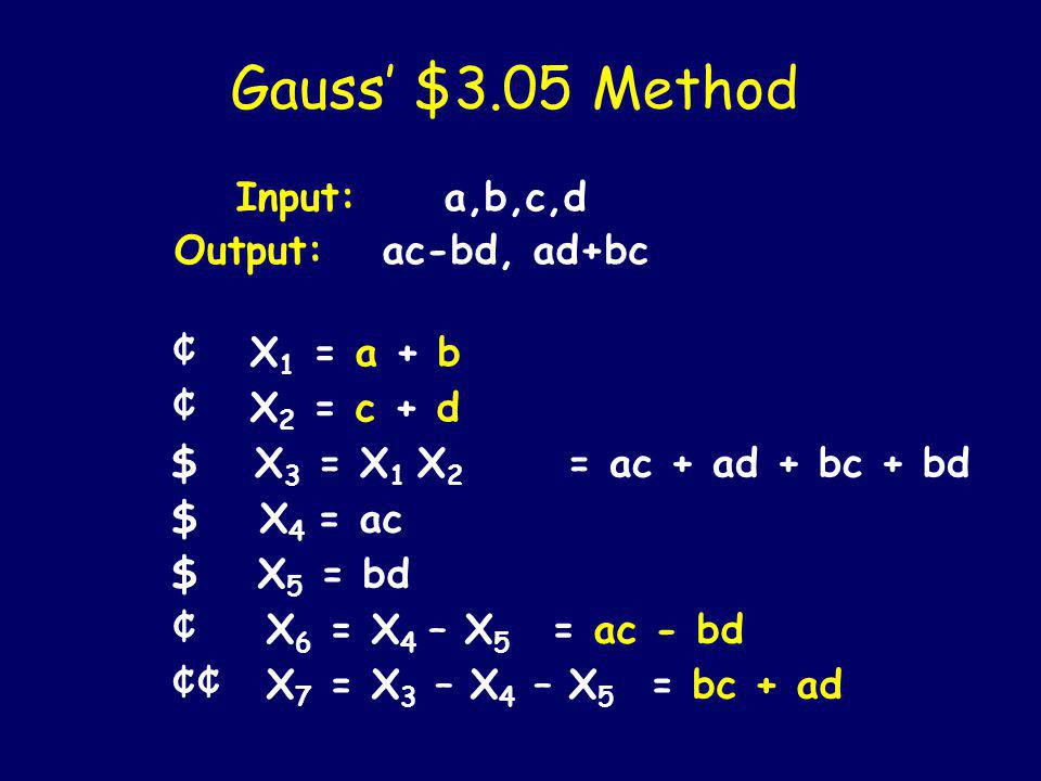 Gauss Complex Puzzle Can you do better than $4.03.