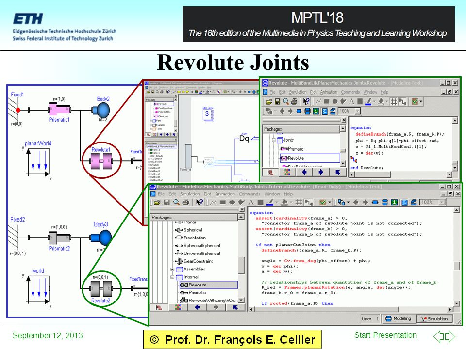 Start Presentation September 12, 2013 Revolute Joints