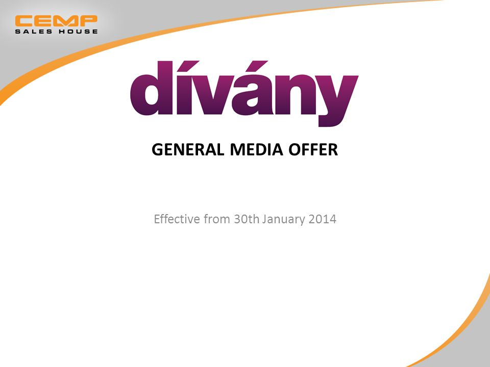 GENERAL MEDIA OFFER Effective from 30th January 2014