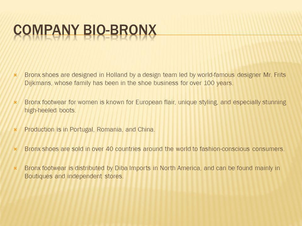 Bronx shoes are designed in Holland by a design team led by world-famous designer Mr.