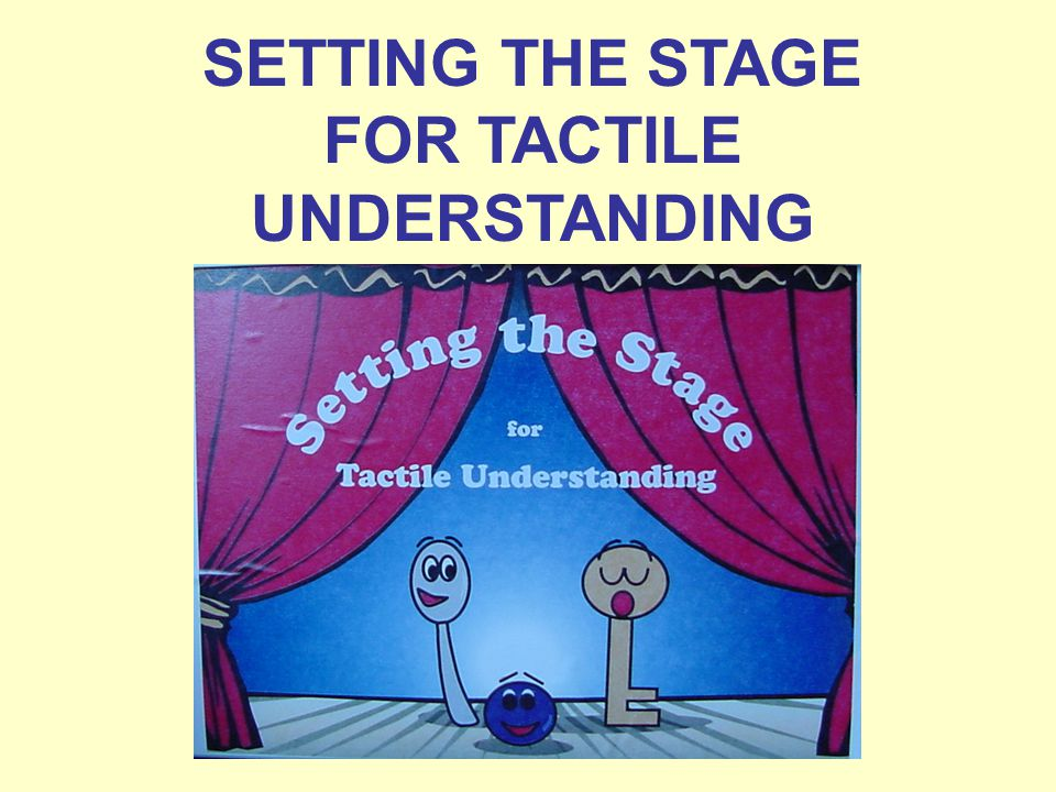SETTING THE STAGE FOR TACTILE UNDERSTANDING