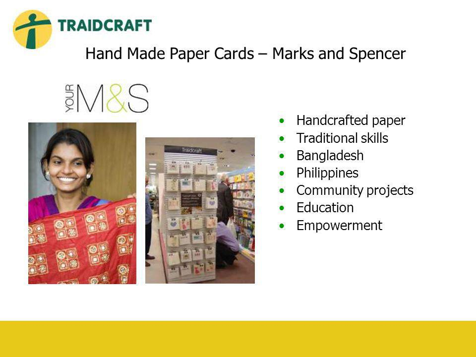 Handcrafted paper Traditional skills Bangladesh Philippines Community projects Education Empowerment Hand Made Paper Cards – Marks and Spencer
