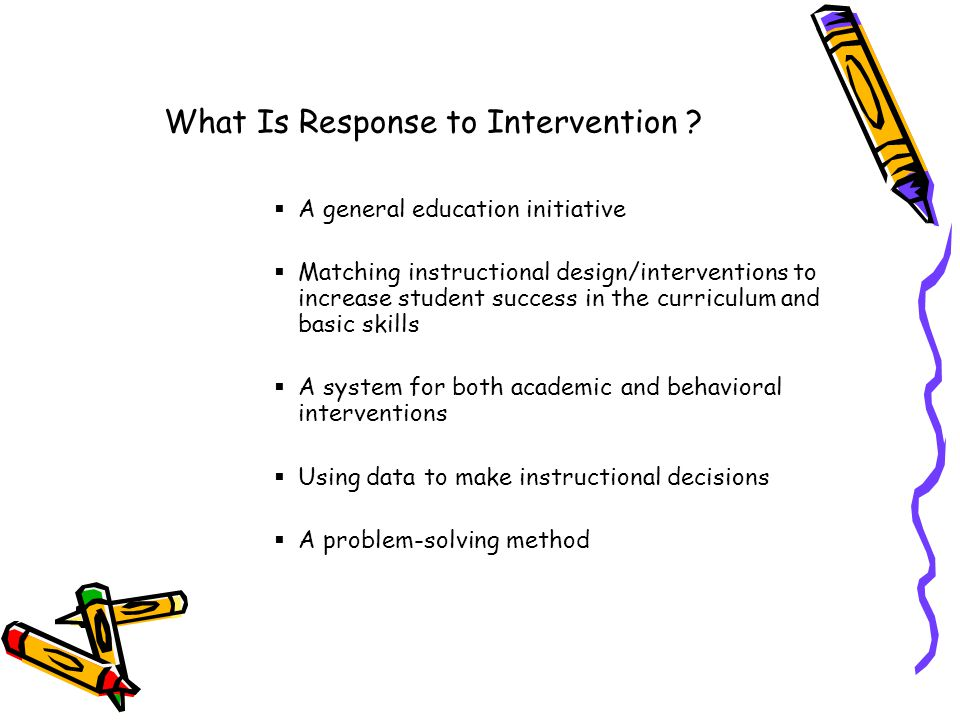 What Is Response to Intervention .