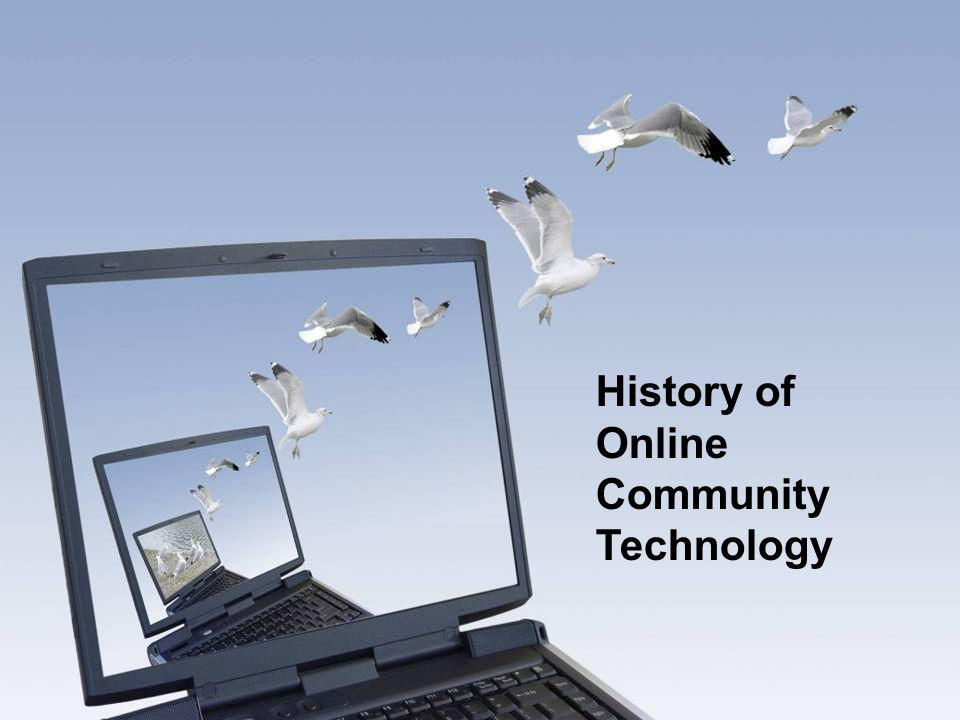 History of Online Community Technology