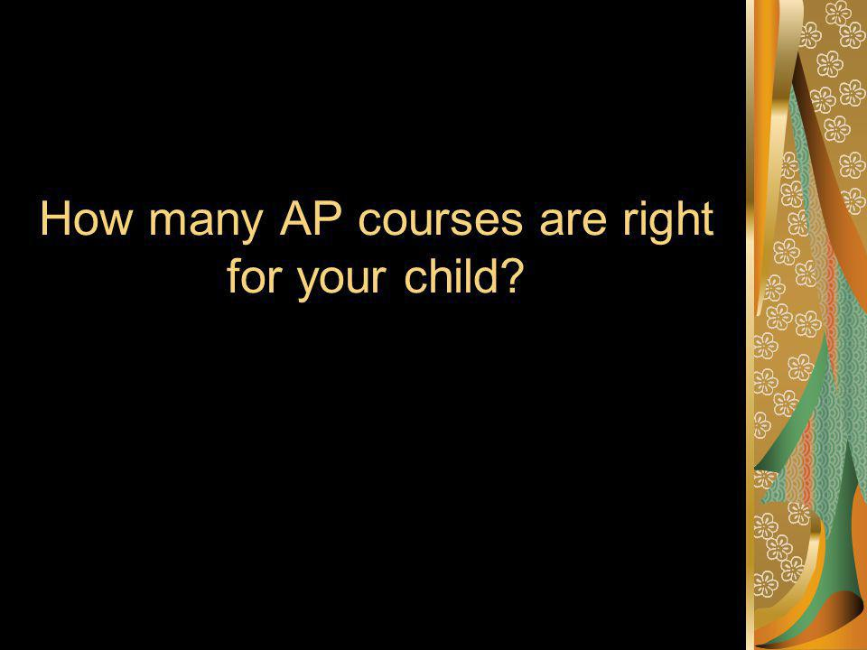 How many AP courses are right for your child