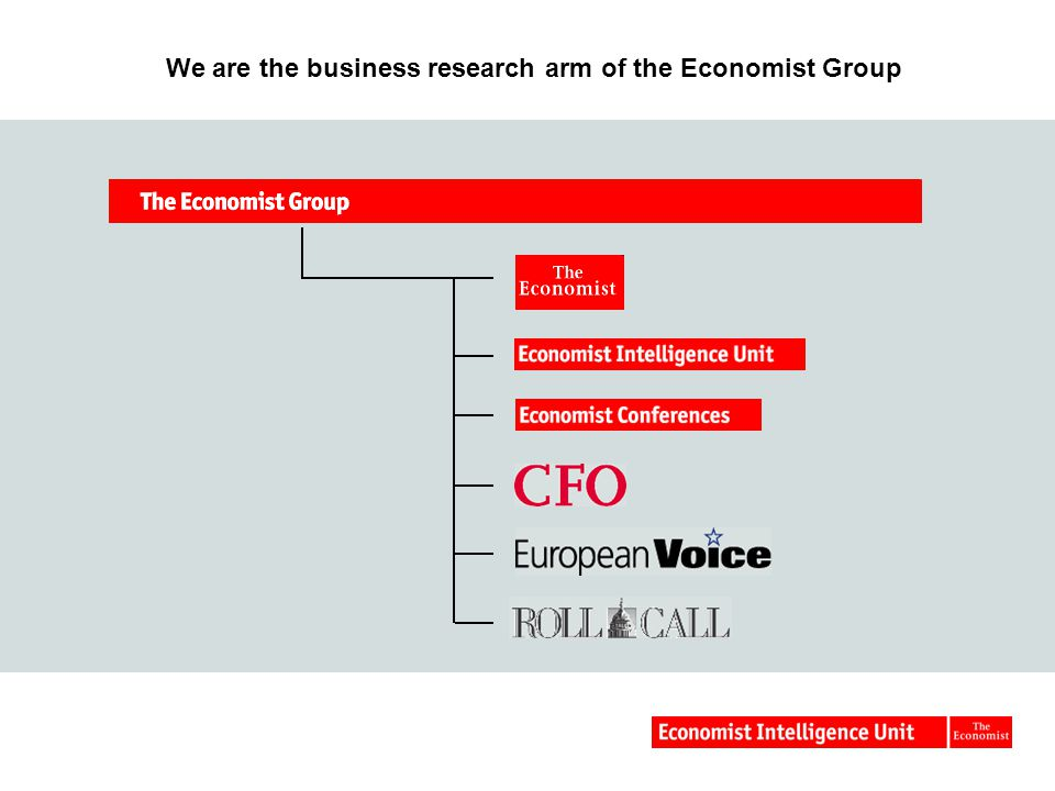 We are the business research arm of the Economist Group