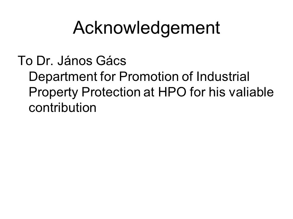 Acknowledgement To Dr.