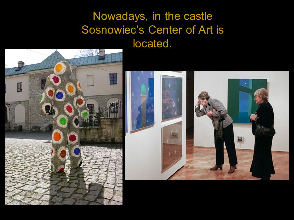 Nowadays, in the castle Sosnowiecs Center of Art is located.
