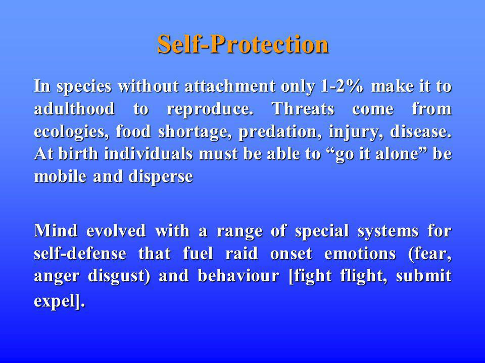 Self-Protection In species without attachment only 1-2% make it to adulthood to reproduce.