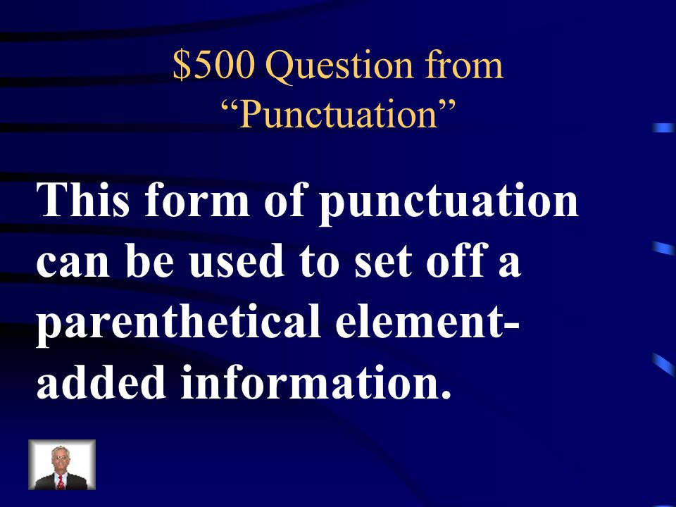 $400 Answer from Punctuation What is an Apostrophe