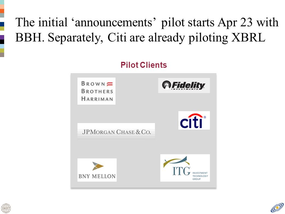 The initial announcements pilot starts Apr 23 with BBH.