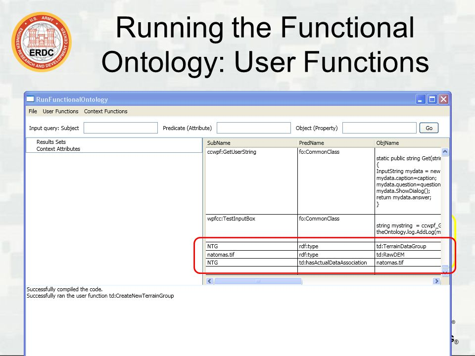 BUILDING STRONG ® Running the Functional Ontology: Queries 15