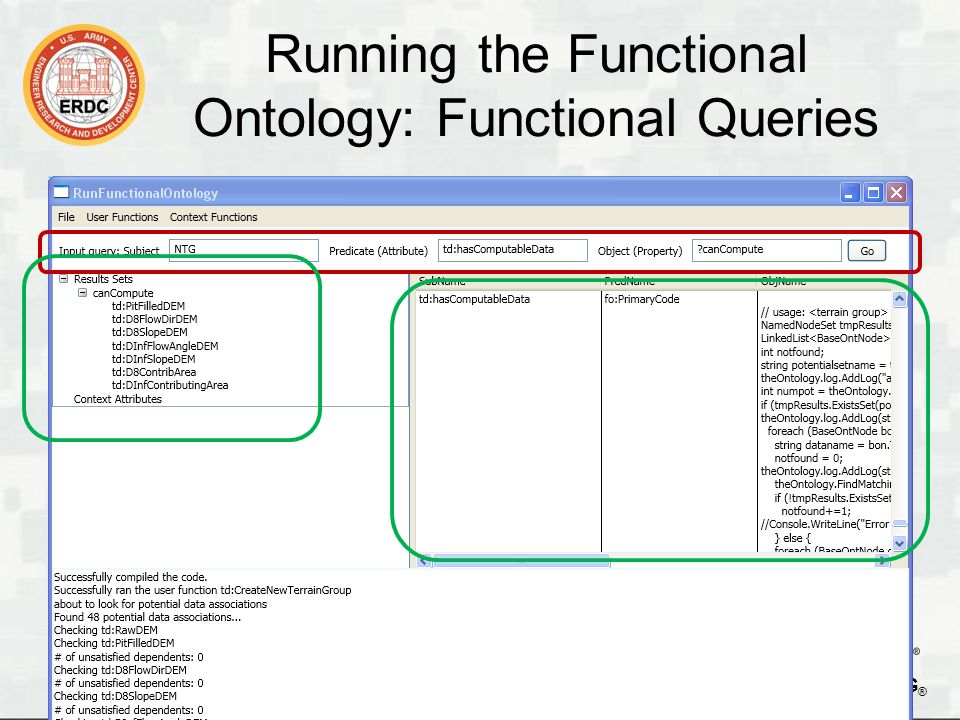 BUILDING STRONG ® Running the Functional Ontology: User Functions 16