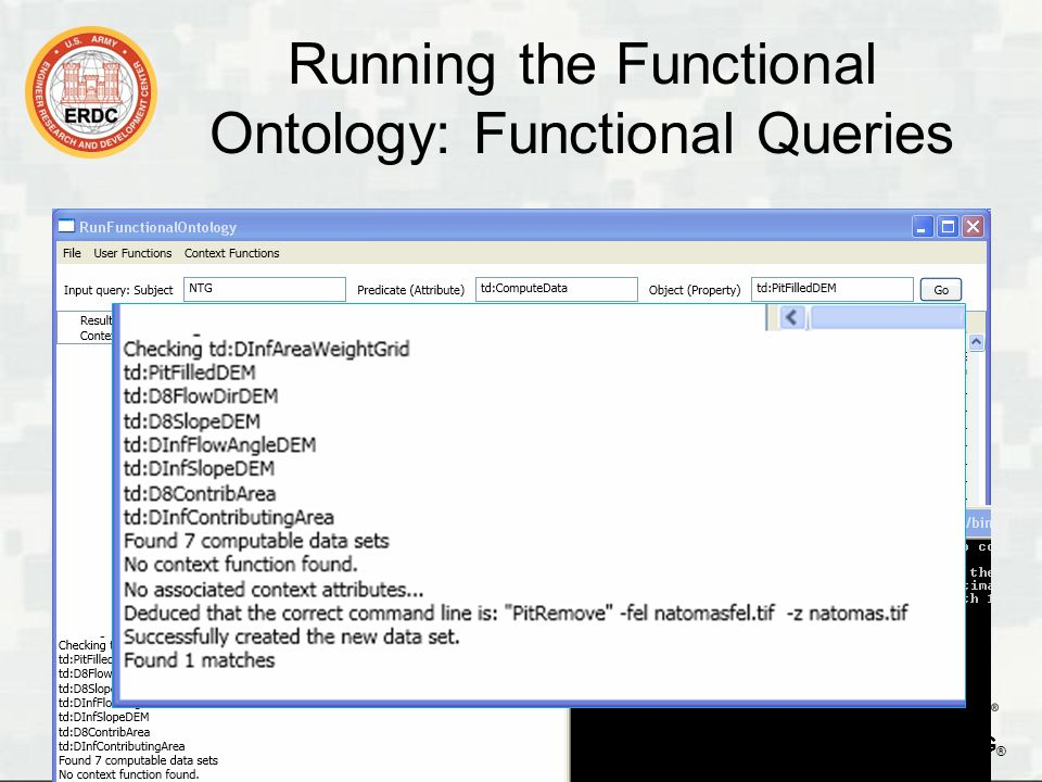 BUILDING STRONG ® Running the Functional Ontology: Functional Queries 17