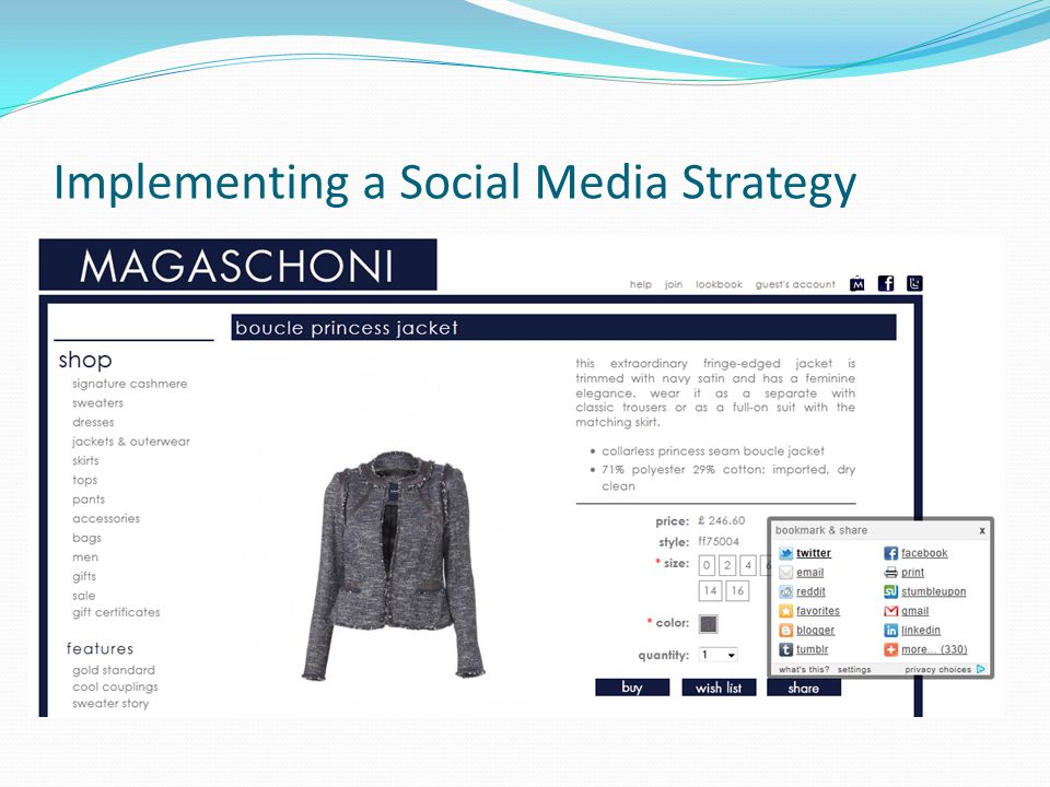 Implementing a Social Media Strategy