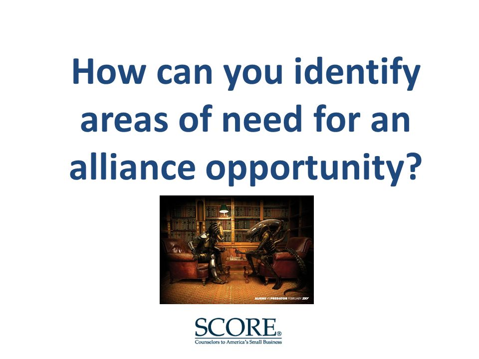 How can you identify areas of need for an alliance opportunity