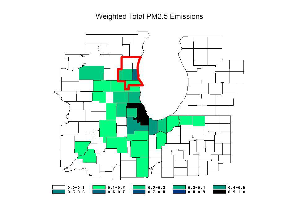Weighted Total PM2.5 Emissions
