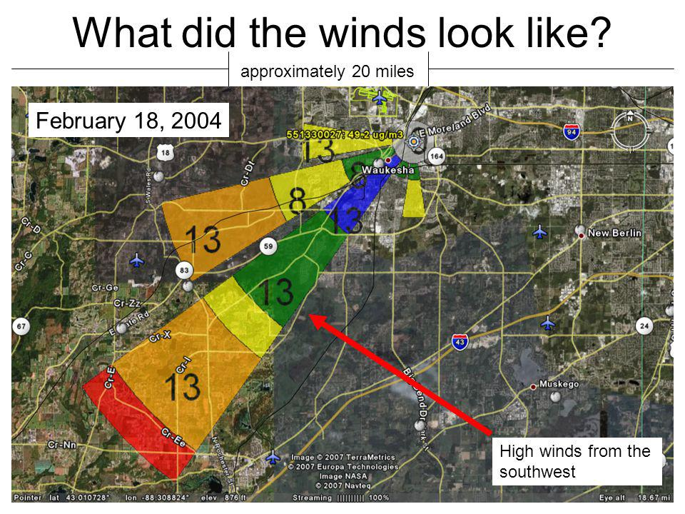 What did the winds look like.