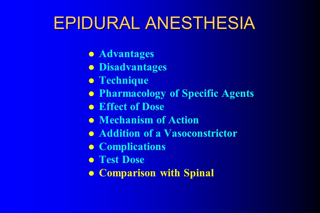 Test Dose Quiz Epidural anesthesia for cesarean delivery is planned for a 30-year-old woman in labor.