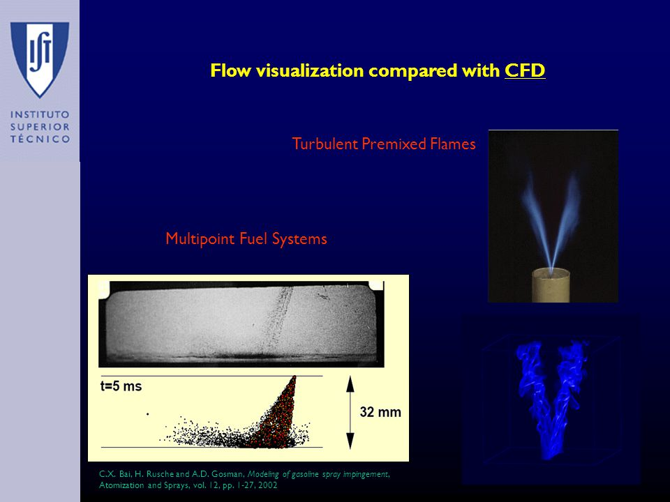 Flow visualization compared with CFD Multipoint Fuel Systems C.X.