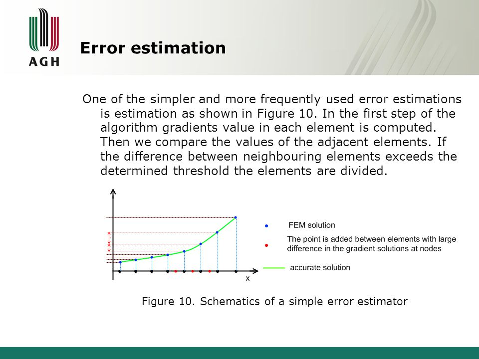Error estimation One of the simpler and more frequently used error estimations is estimation as shown in Figure 10.