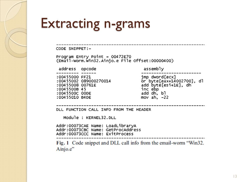 Extracting n-grams 13