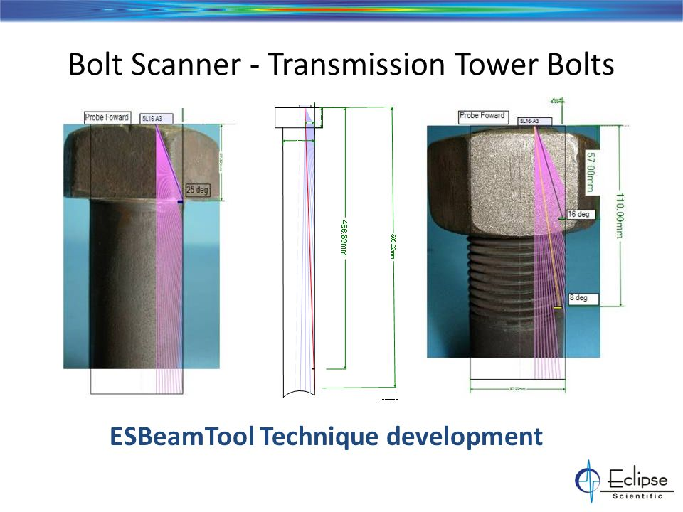 Bolt Scanner - Transmission Tower Bolts ESBeamTool Technique development