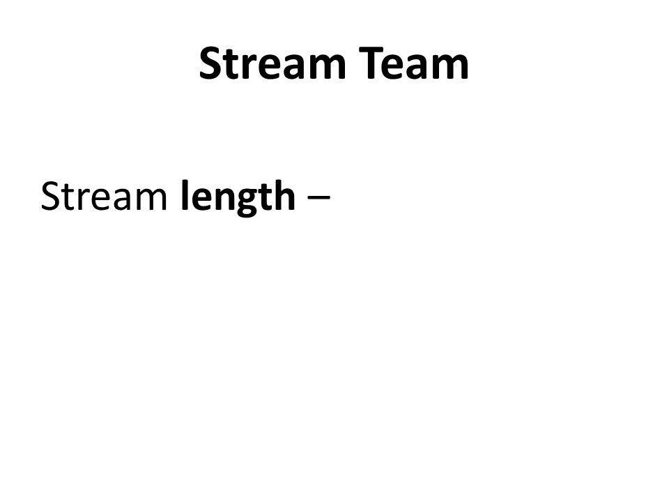 Stream Team Stream length –