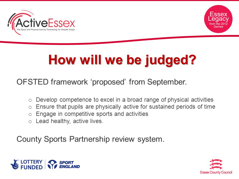 How will we be judged. OFSTED framework proposed from September.