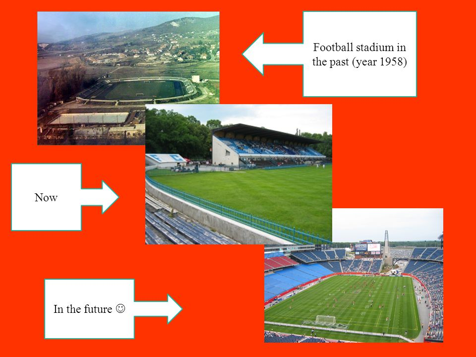 Football stadium in the past (year 1958) Now In the future