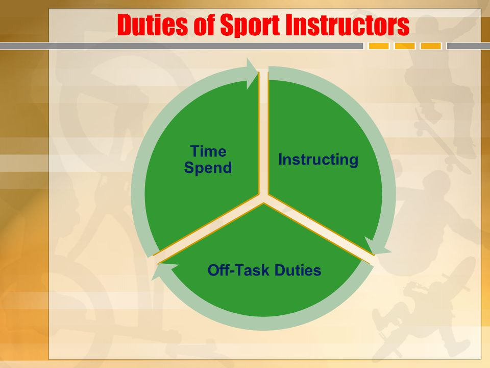 Duties of Sport Instructors Instructing Off-Task Duties Time Spend