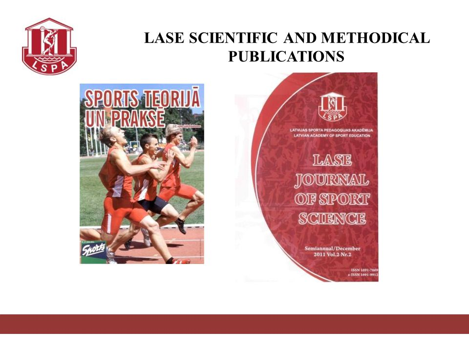 LASE SCIENTIFIC AND METHODICAL PUBLICATIONS