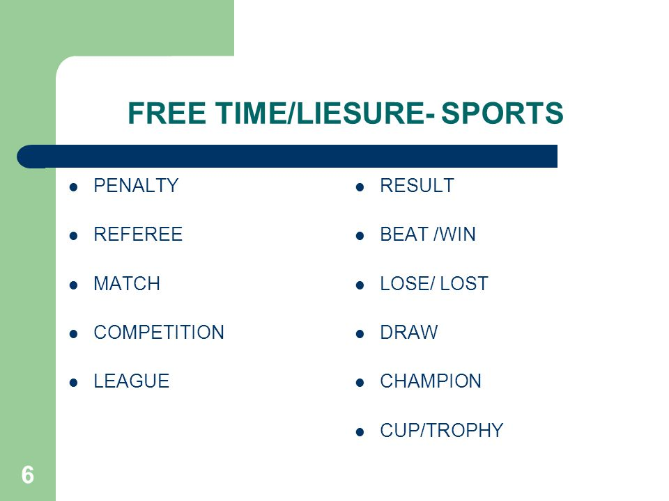 6 FREE TIME/LIESURE- SPORTS PENALTY REFEREE MATCH COMPETITION LEAGUE RESULT BEAT /WIN LOSE/ LOST DRAW CHAMPION CUP/TROPHY