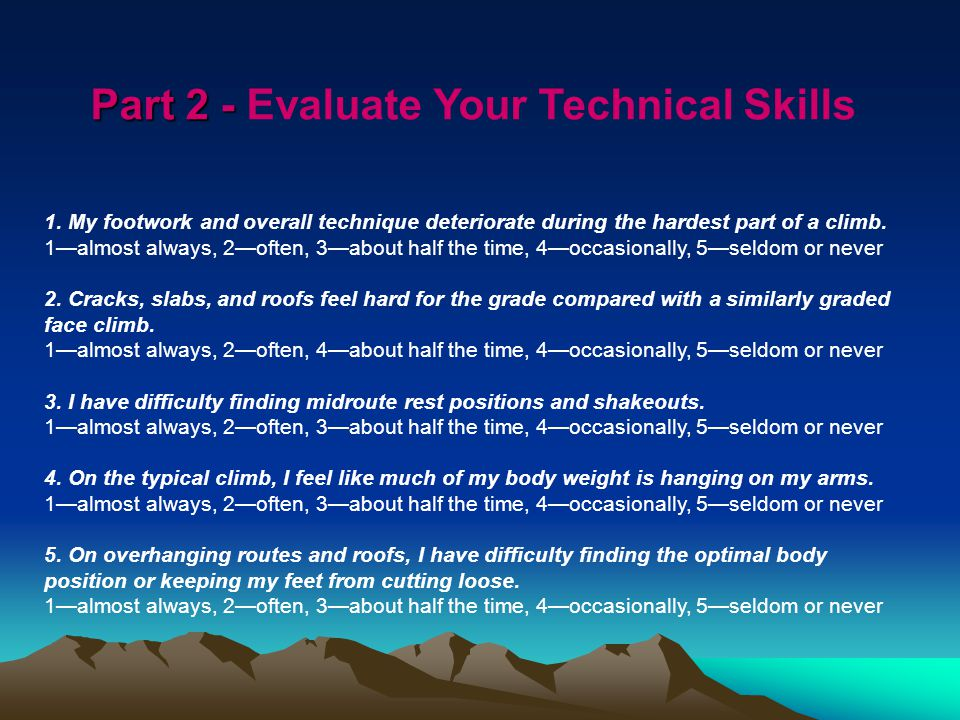 Part 2 - Part 2 - Evaluate Your Technical Skills 1.